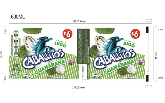 Etiqueta Caballitos Guanabana